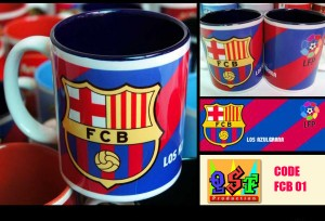 mug klub bola barcelona