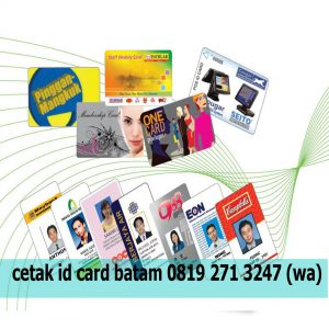 Tempat cetak id card murah di batam