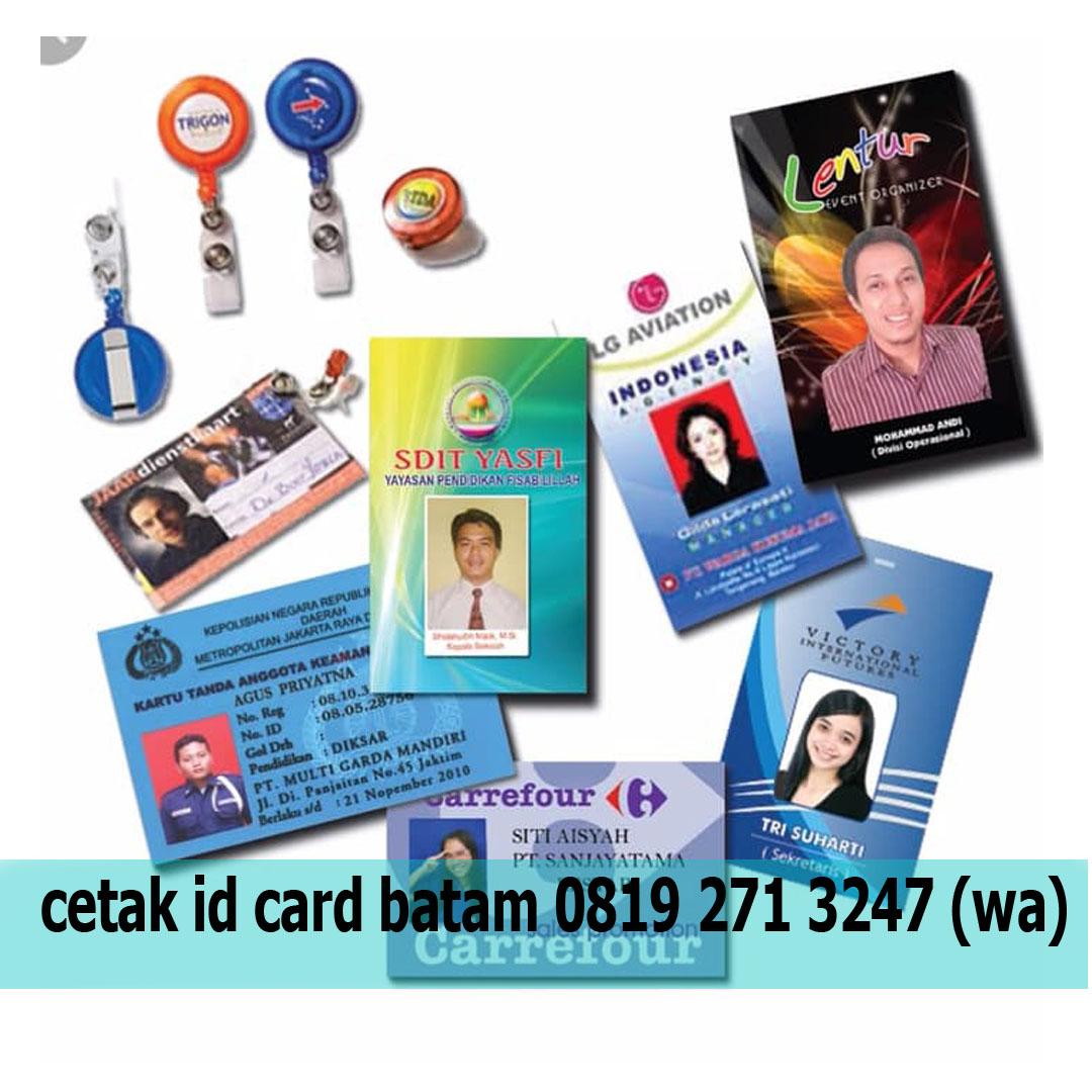 cetak id card satuan custom batam